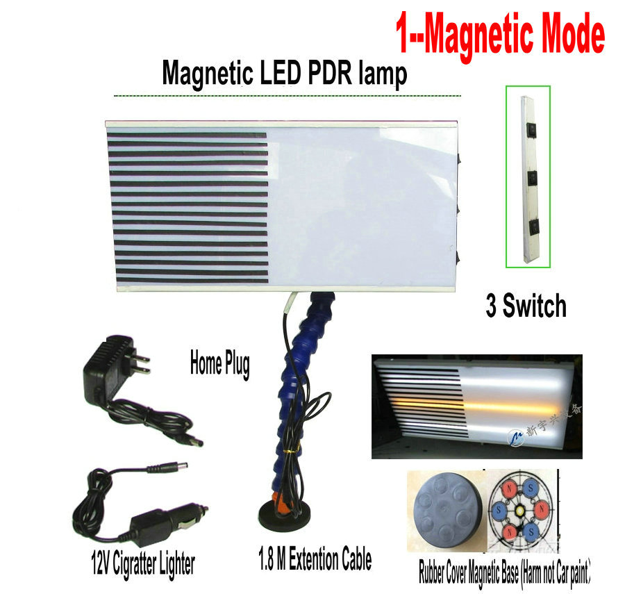 Magnetic Style LED PDR Lamp Dent Repair Tools Dent Detector PDR light Master PDR kit lamp board PDR line Board pdr tools dent removal car dent repair led lamp reflector board led light reflection board with adjustable holder