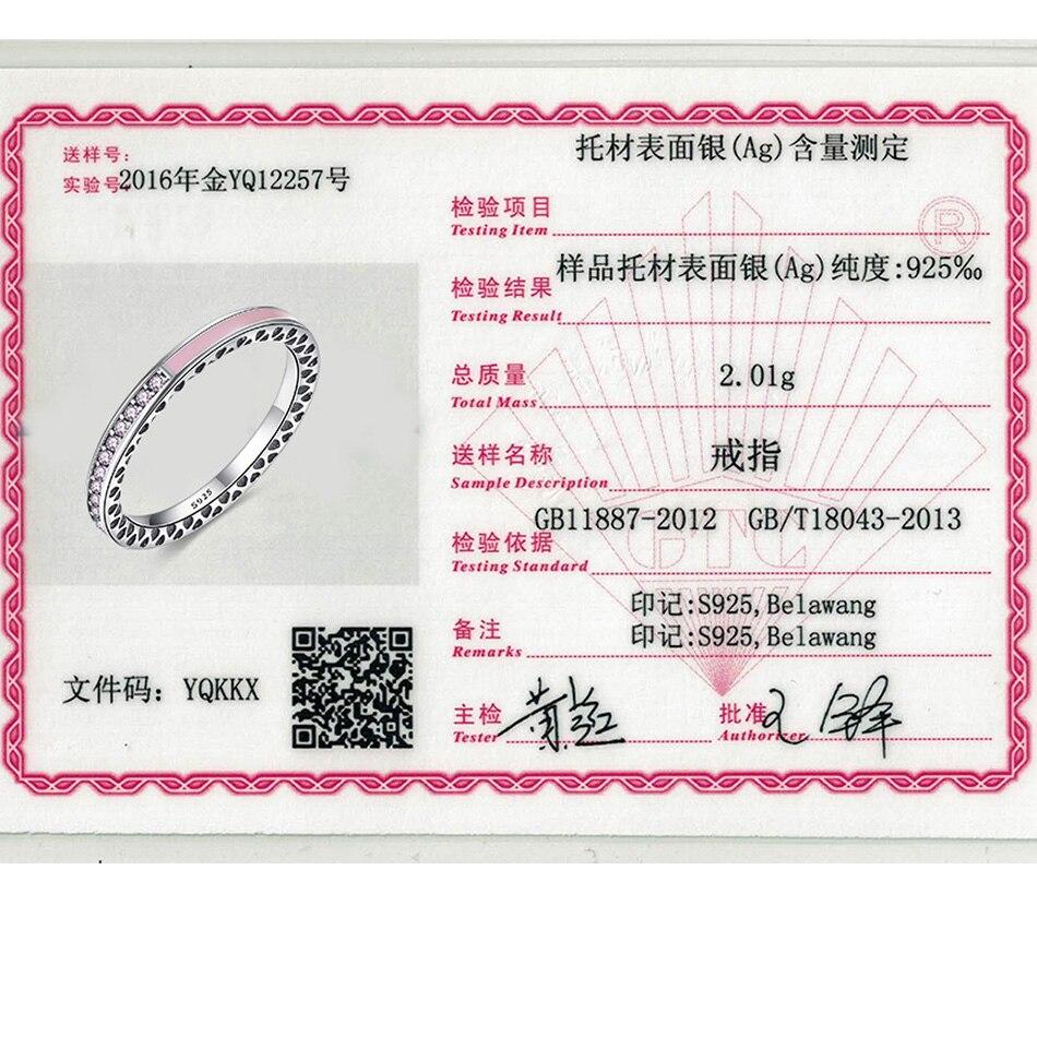 ELESHE Orijinal 100% 925 Ayar Gümüş Parmak Yüzük Kadınlar Için - Kostüm mücevherat - Fotoğraf 6