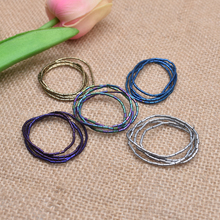 Yanqi 3mm 160pcs Natural Stone Beads Cylinder Shape Plating color Loose Hematite Stones for diy  jewelry making