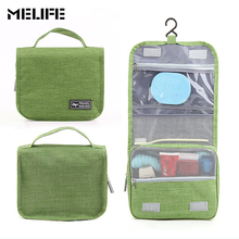 MELIFE Large Waterproof Makeup bags Nylon Travel Cosmetic Bag Women Men Organizer Case Necessaries Make Up Wash Toiletry Bag