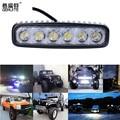 18 W LED Flood Trabalho Leve ATV Off Road Luz de Nevoeiro Luz de Condução Barra de luz Para 4x4 Offroad SUV Truck Car Trailer Trator UTV Veículo