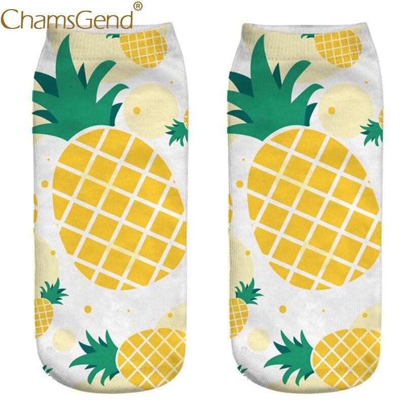 Chamsgend Socks Drop Shipping Women Cute Fruit Pineapple Print Socks 80402