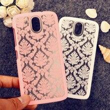 Borracha pintado henna floral retro casos de telefone para htc desire 526  600  626  820 mini  826  e9 mais  m8 mini  m9 326 tampa durável