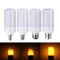 Ledランプ電球e27/e26/e14/e12/b22装飾ランプ炎効果三モードちらつきを燃やす発射ledトウモロコシ電球220ボルト110ボル