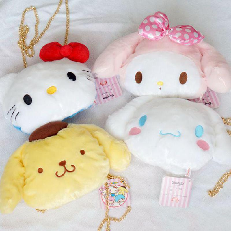 Detail Feedback Questions about Cute My Melody Hello Kitty Cinnamoroll  Pudding Dog Plush Backpack Soft Stuffed Animals Doll Satchel Chain Shoulder  Bags For ... 4ccffc8e5e10b