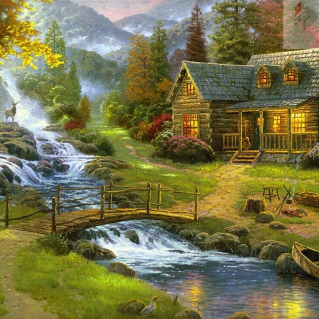 farmhouse Cottage diamond painting cross stitch full