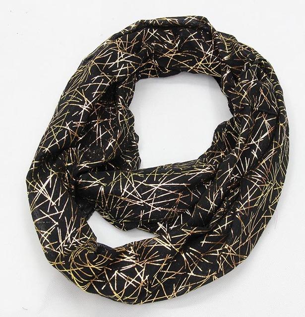 Gold Fireworks Loop Scarves | Infinity Scarves