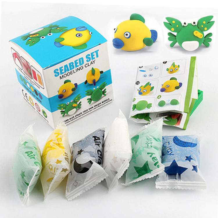 slime kit slime diy set light plasticine clear putty slime toys play doughfluffy paper clay air dry clay sand toys playdough toy