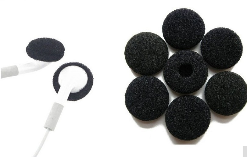 15Pairs 30Pcs 18mm Soft Foam Earphone Ear Tips Earbud Ear pads Replacement Sponge Covers For Headhone MP3 MP4 Mobile Phone H059