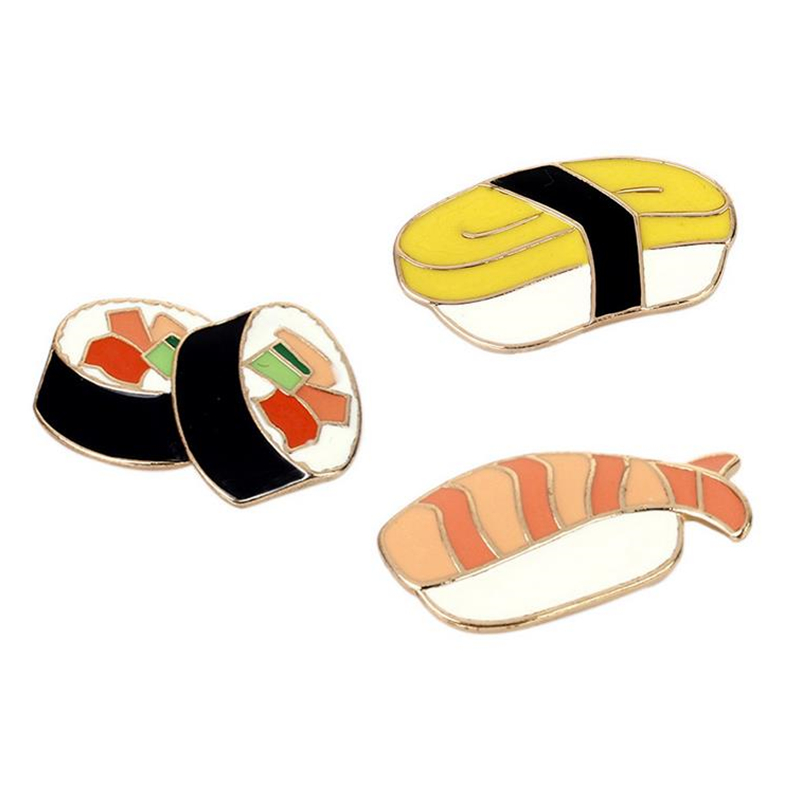 DoreenBeads Creative Unique Sushi Fish Lunch Box Pin