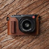 Mr.Stone Handmade Genuine Leather Camera case Video Half Bag Camera Bodysuit For Leica Q Camera typ116
