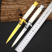 New AKC 440C Steel Blade Bone Handle Folding Knife Survival Knifes Pocket Hunting Tactical Knives Camping Outdoor EDC Tools y8