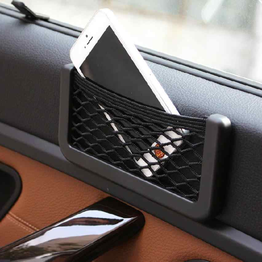 1PC New Car Universal Resilient Seat Storage Net Bag Holder Pocket Organizer Ja26