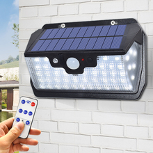 55 LEDs Solar Light 800LM Super Bright Outdoor Waterproof Garden Wall Solar Lamp USB Charging Available With Remote Control