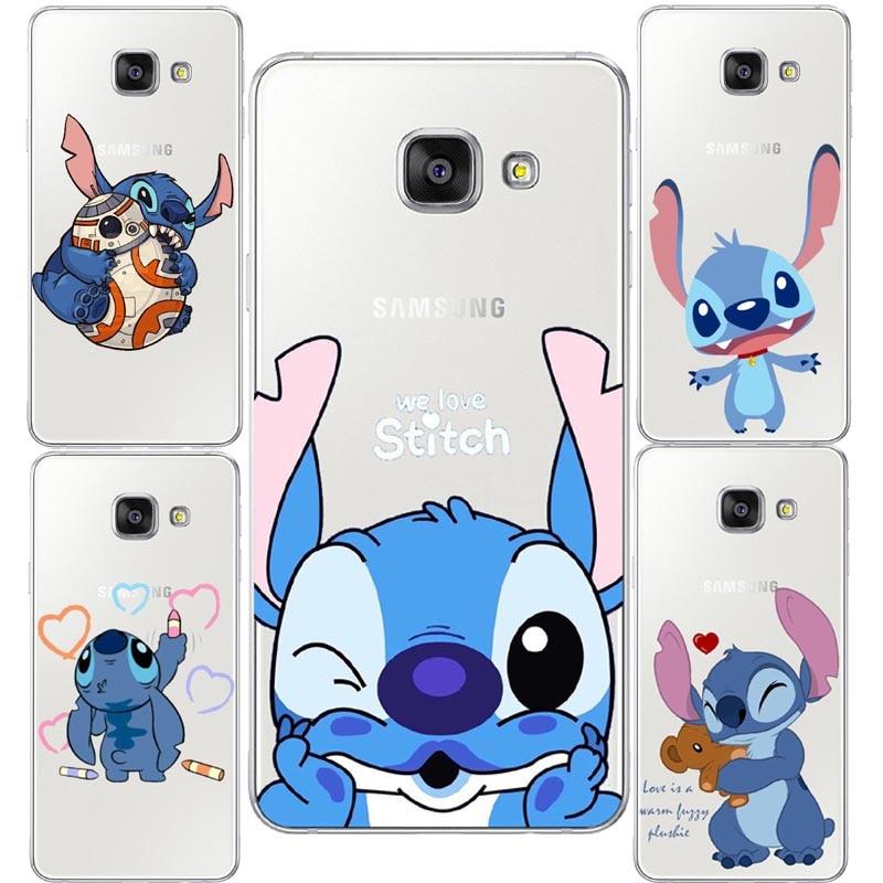 Cute Stitch Emoji Hard plastic Clear Phone Case For Samsung Galaxy ...