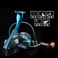 Spool Fish Reel 10+2BB Ball Bearings Spinning Fishing Reel Reels Speed Gear 1000 2000 3000 4000 5000 6000