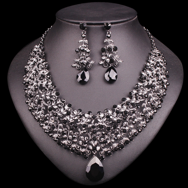 Aliexpresscom Buy Necklace Earring Sets Vintage Bridal Jewelry