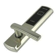Золотой Серебряной отделкой RFID замок Двери дверь номера в отеле замок с одной карты