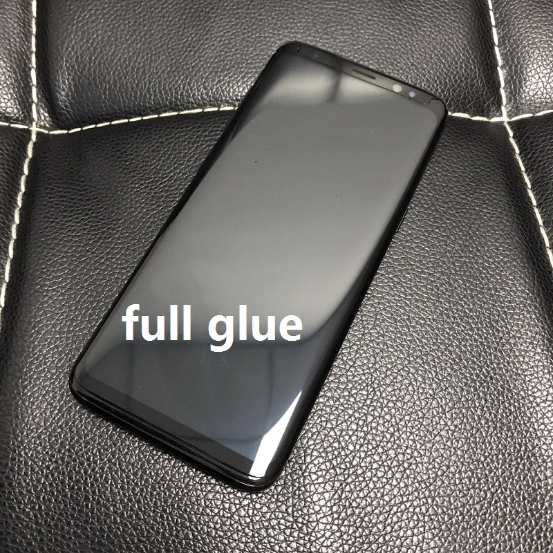 3D Curved For Samsung Note8 S8 S9 Plus Glass Full Adhesive Film For Samsung Galaxy S8 S9 Note8 Glass Full Glue Screen Protector
