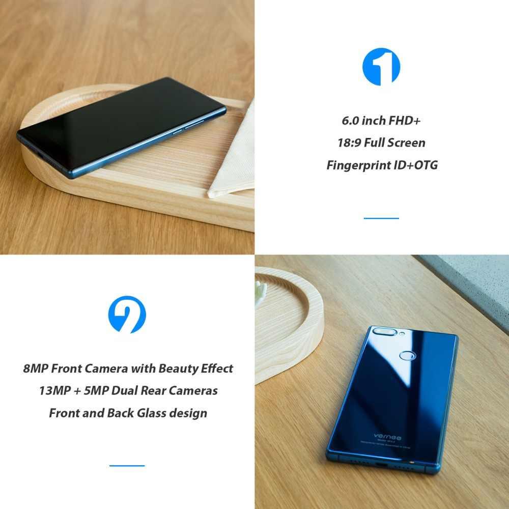 Vernee Mix 2 мобильный телефон 4G ram 64G rom MTK6757 Восьмиядерный 6,0 дюймов 18:9 дисплей 13.0MP Android 7,0 смартфон двойная задняя камера