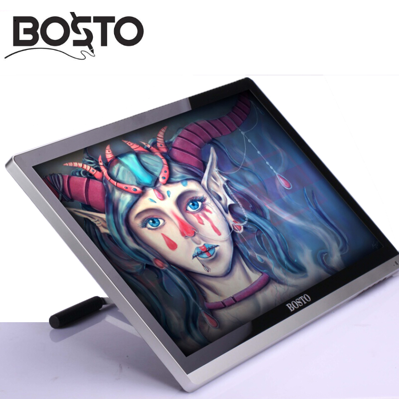 Image 3 - BOSTO 22UMini 21.5in Professional Full HD Art Graphics Tablet Monitor to Draw 8192 Levels Pen and Artist Drawing Glove and Stand-in Digital Tablets from Computer & Office
