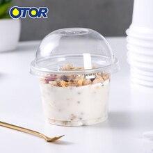 OTOR 10 шт. 8 унций 10 унций одноразовый контейнер для еды для пудинга желе десерт пластиковая мини-коробка для дома вечерние принадлежности для свадебной вечеринки