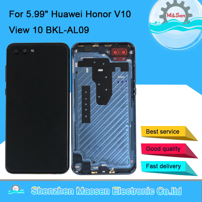 Cover Housing Glass-Lens Back-Battery Rear-Door-Case Honor Huawei Original M for V10-View