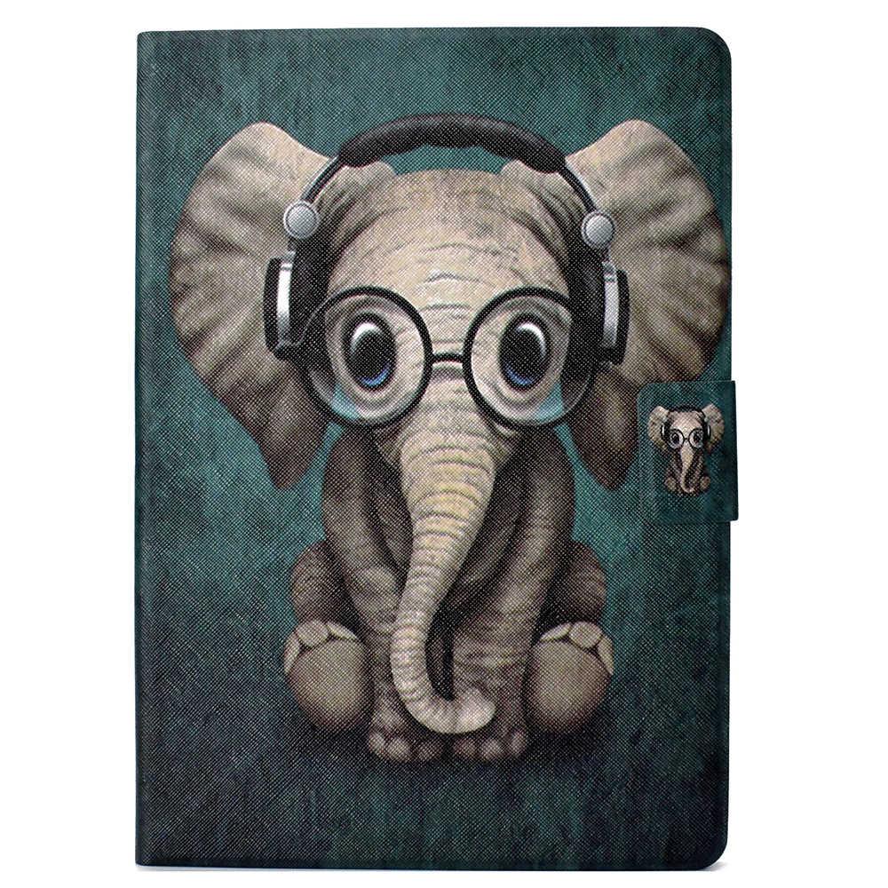 """الأزياء حامل فليب بو الجلود حافظة لهاتف huawei MediaPad T3 10 AGS-L09 9.6 """"جراب كمبيوتر لوحي غطاء Fundas كوكه الكلب الباندا الفيل"""
