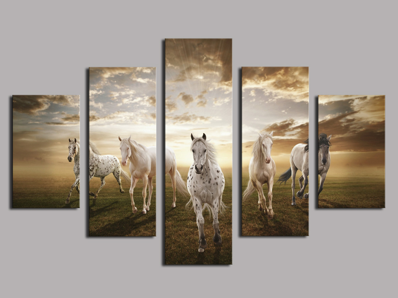 High Quality Cheap Price Home Wall Art Pictures Running Horse Large Hd Modern Decor Abstract Canvas