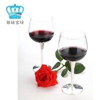 Кристалл Колонка Серебряный Кубок вина Мода Королевский кружку красного вина Kupper стекло hanap
