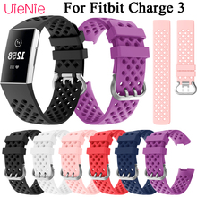 For Fitbit Charge 3 frontier/classic Silicone breathable wrist strap For Fitbit Charge 3 smart watch wristband accessories все цены