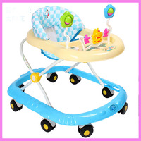 Najlepiej Sprzedający Się 6-18 miesięcy Bezpieczeństwo Anti Rollover Wielofunkcyjne Dziecięce Chodziki Chodzik Dla Dzieci Z Muzyką Koła Zabawki Płyty Składane łatwe