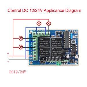 Image 5 - Беспроводной пульт дистанционного управления, 12 В/24 В, 4 канала, 10 А, светодиодный передатчик, 433 МГц, TX RX