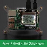 ราสเบอร์รี่Pi 3รุ่นB CPUข้อมูลจอแอลซีดีหน้าจอ1.6นิ้ว84x48ที่มีแสงไฟสวิทช์
