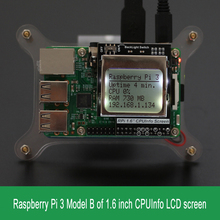 Raspberry Pi 3 Model B CPU Info LCD Screen 1.6 inch 84×48 with Backlight Switch Compatible Pi2/1/ Orange Pi