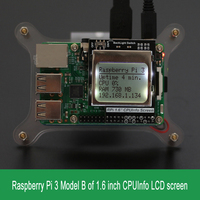 Raspberry Pi 3 Model B CPU Info LCD Screen 1 6 Inch 84x48 With Backlight Switch