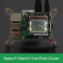 Raspberry Pi 3 Модель B Процессор информация ЖК-дисплей Экран 1.6 дюймов 84×48 с Подсветка переключатель совместим Pi2/ 1/оранжевый pi
