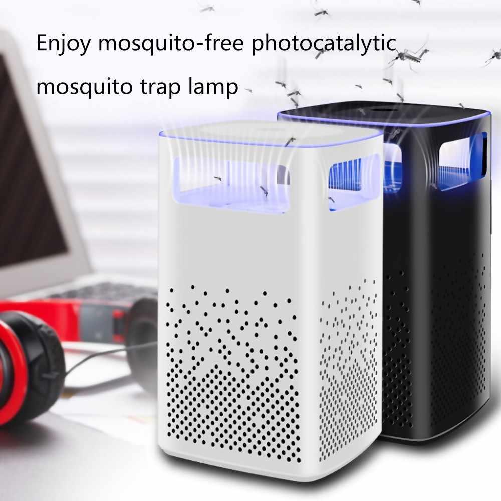 Светодиодный антимоскитная лампа 2 Вт USB умный оптически управляемый светодиодный светильник для уничтожения насекомых Летающий Жук Zapper домашняя гостиная борьба с вредителями