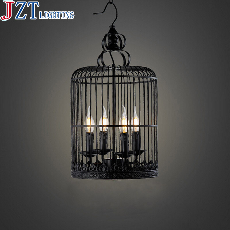 M 4 Head D30*H67cm Retro Nostalgia American Industrial Living Room Wrought Iron Birdcage Candle Lamp Chandelier Restaurant Bar часы hama nostalgia mini h 113924