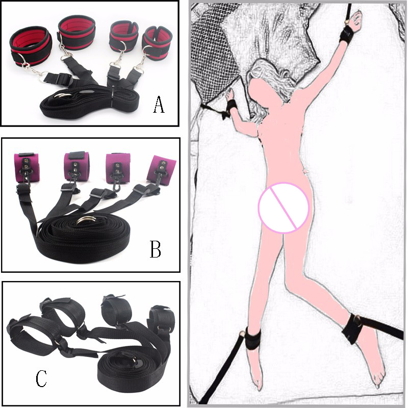 Adult Games Sexy Toy Bed Restraints Bondage Handcuffs Sex Toys For Couples Sex Products Tool Bondage Fixed Hand Ankle Erotic Toy