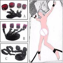 Сексуальные игрушки взрослые игры кровать Ограничения Связывание Секс-игрушки для пар наручников интимные изделия игрушки бондаж фиксиро...(China (Mainland))