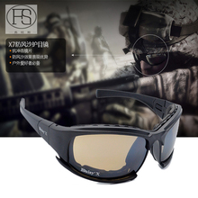 Daisy X7 Polarized Glasses Tactical Shooting Airsoft Sport Anti-impact Goggles 4 Lens Outdoor Sport UV400 Protection Sunglasses
