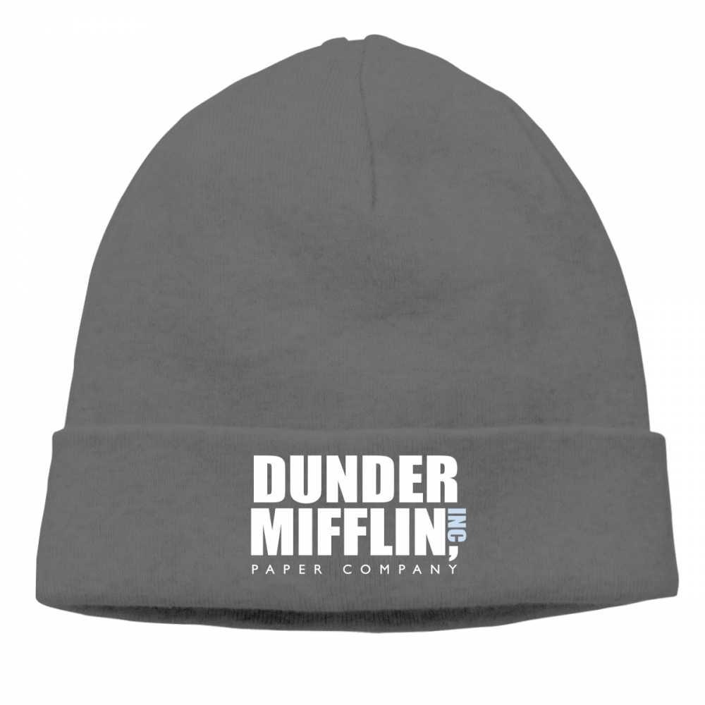 ... Dunder Mifflin Inc Paper Company Men Women Beanie Knitted Winter Autumn  Cap Hip-hop Slouch ... 3daf716b4c4