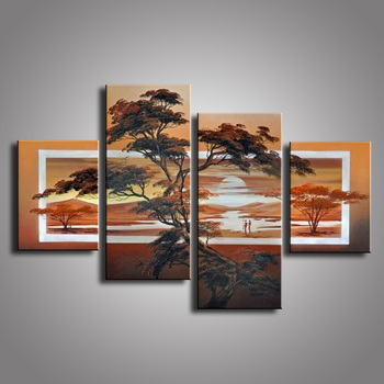 100% hand-painted oil paintings on canvas African Scenery Guaranteed oil painting  home decoration Modern wall  DY-003