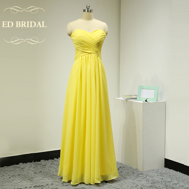 Custom Made Chiffon Yellow Bridesmaid Dresses Long Formal Party Dress Women Special Occasion Maid Of Honor