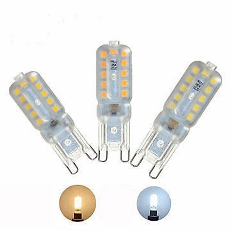G9 bombilla LED 5W Mini bombilla LED 220V lámpara de inundación regulable Enchufe europeo Poewer Cord con portalámparas Vintage accesorios E27 enchufe de bombilla con interruptor de perilla 2 metros Cable trenzado textil