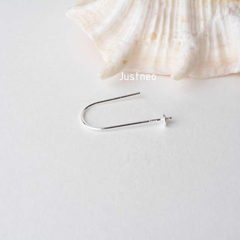 Zaczep na ucho, solidna 925 sterling srebrny kolczyk drut haki z koralik czapki, biżuteria DIY sterling srebrny kolczyk ustalenia komponenty