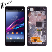 4.3'' Original For Sony Xperia Z1 Mini Compact D5503 M51W LCD Display Touch Screen Digitizer Assembly with frame Free shipping