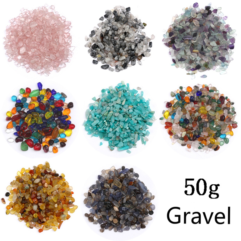 50g/lot Different Shape Natural Stone Seal Gravel UV Resin Material Accessory Filling For DIY Crystal Epoxy Mold Making Jewelry