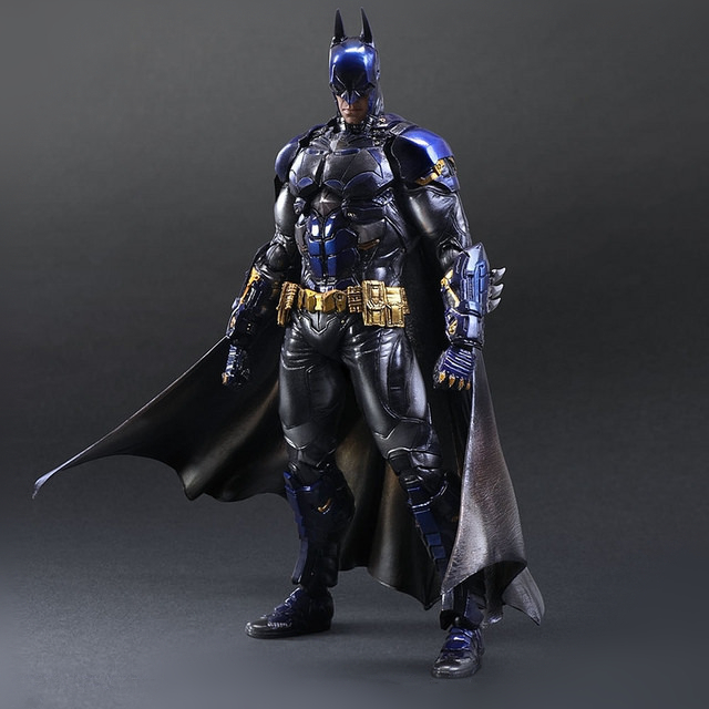 Playarts KAI Batman Arkham Knight Batman Blue Limited Ver. Superhero PVC Action Figure Collectible Model Boy's Favorite Toy 28cm playarts kai star wars darth maul pvc action figure collectible model toy 28cm free shipping kb0276